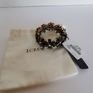 J.CREW Crystal Flowers Link Stretchy Bracelet